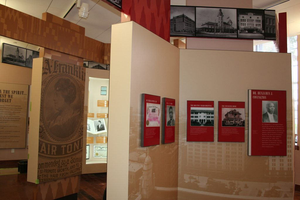 display at African-American Library -Gregory School